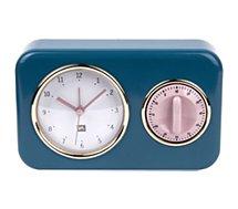 Horloge Present Time  Horloge vintage bleu pétrole PT2970BL