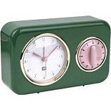 Horloge Present Time  Horloge vintage vert sapin PT2970GR