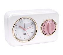 Horloge Present Time  horloge vintage blanche PT2970WH