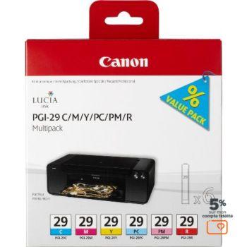 Canon 6 cartouches couleur PGI-29