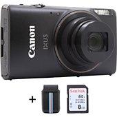 Appareil photo Compact Canon Ixus 285 HS noir + Etui + SD 8Go