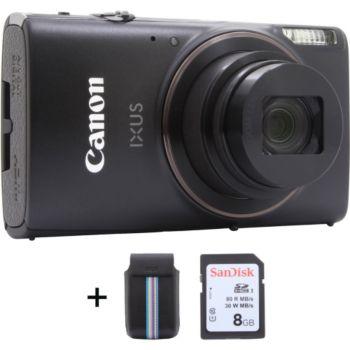 Canon Ixus 285 HS noir + Etui + SD 8Go