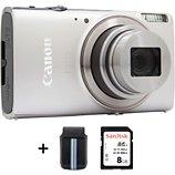 Appareil photo Compact Canon  Ixus 285 HS Silver + Etui + SD 8Go