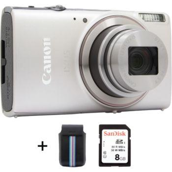 Canon Ixus 285 HS Silver + Etui + SD 8Go