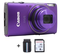 Appareil photo Compact Canon Ixus 285 HS Pourpre + Etui + SD 8Go