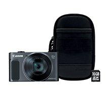 Appareil photo Compact Canon SX620 HS Noir + Etui + SD 16Go