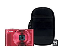 Appareil photo Compact Canon SX620 HS Rouge + Etui + SD 16Go