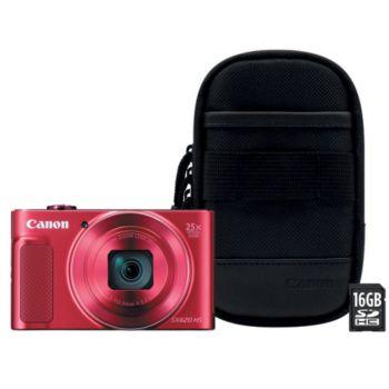 Canon SX620 HS Rouge + Etui + SD 16Go