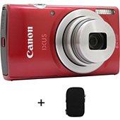 Appareil photo Compact Canon Ixus 185 Rouge + Etui