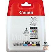 Cartouche d'encre Canon CLI-581 (N CMJ)
