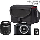 Appareil photo Reflex Canon EOS 2000D+EF-S 18-55 IS II+Etui+SD16Go
