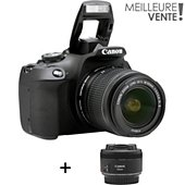 Appareil photo Reflex Canon EOS 2000D + EF-S 18-55 IS II + EF 50mm