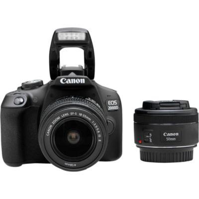 Location Appareil photo Reflex Canon EOS 2000D + EF-S 18-55 IS II + EF 50mm