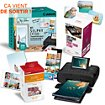 Imprimante photo portable Canon Pack CP1300 + RP108 + Kit Créatif