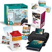 Imprimante photo portable Canon Pack CP1300 + RP108 + Kit Créatif