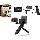 Appareil photo Compact Canon Kit Vlog G7X Mark III Noir