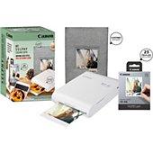 Imprimante photo portable Canon Pack QX10 + 20 feuilles + Coffret
