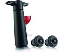 Pompe à vin Vacuvin  et 2 bouchons noirs