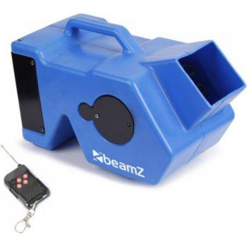 Beamz Machine à bulles bleu avec ventilateur -