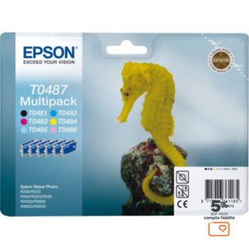 Epson T0487 série Hippocampe N/C/M/J/MC/CC