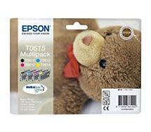 Cartouche d'encre Epson  T0615 N/C/M/J série ourson