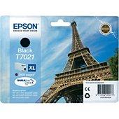 Cartouche d'encre Epson Noire XL T7021 Série T. Eiffel