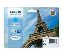 Cartouche d'encre Epson T7022 XL Cyan Série Tour Eiffel