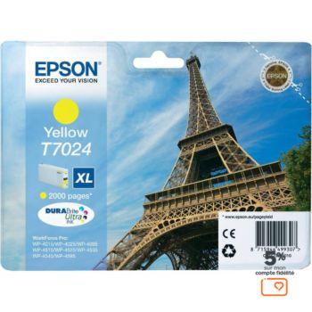 Epson T7024 XL Jaune Série Tour Eiffel