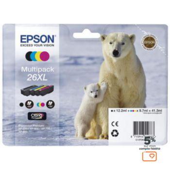 Epson T2636 XL (N/C/M/J) Ours Polaire