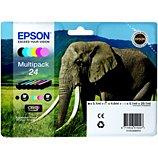 Cartouche d'encre Epson  T2428 N/C/M/J/CC/MC Série Eléphant