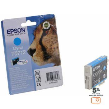 Epson T0712 Cyan série Guépard