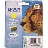 Cartouche d'encre Epson  T0714 Jaune série Guépard
