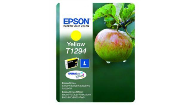 epson t1294 jaune s rie pomme cartouche d 39 encre boulanger. Black Bedroom Furniture Sets. Home Design Ideas