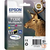 Cartouche d'encre Epson T1306 (C/M/J) série cerf