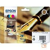 Cartouche d'encre Epson T1626 (N C M J) Série Stylo plume