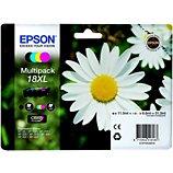 Cartouche d'encre Epson  T1816 XL (N/C/M/J) série Paquerette