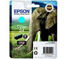 Cartouche d'encre Epson  T2422 Cyan Série Eléphant