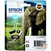 Cartouche d'encre Epson T2425 Cyan Clair Série Eléphant