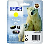 Cartouche d'encre Epson  T2614 Jaune Série Ours Polaire