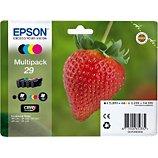 Cartouche d'encre Epson T2986 (N/C/M/J) Série Fraise