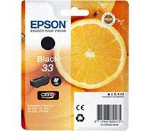 Cartouche d'encre Epson T3331 Noire Premium Série Orange