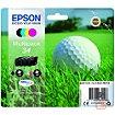 Cartouche d'encre Epson T3466 (N/C/M/J) Série Balle de golf