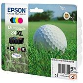 Cartouche d'encre Epson T3476 (N/C/M/J) XL Série Balle de golf