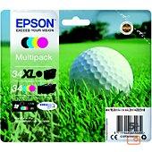 Cartouche d'encre Epson T3479 Noir XL+C/M/J Série Balle de golf