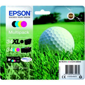 Epson T3479 Noir XL+C/M/J Série Balle de golf