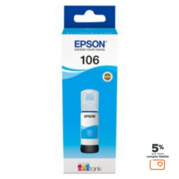 Epson Ecotank Bouteille 106 Cyan
