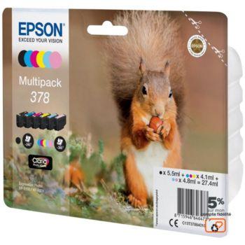 Epson 378 (N/C/M/J/CC/MC) Série Ecureuil