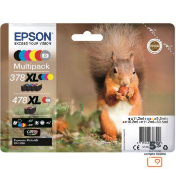 Epson 478 (N/C/M/J/R/G) XL Série Ecureuil