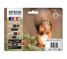 Cartouche d'encre Epson 478 (N/C/M/J/R/G) XL Série Ecureuil