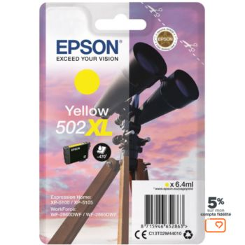 Epson 502 Jaune XL Série Jumelles
